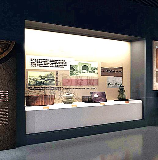 博物馆展柜沿墙柜
